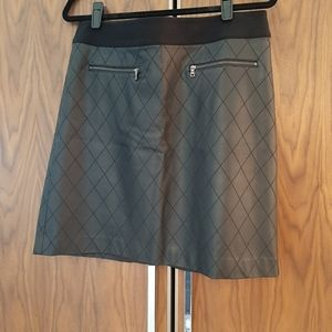 Ann Tayloy Faux Leather Skirt